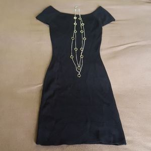 Black dress and necklace combo